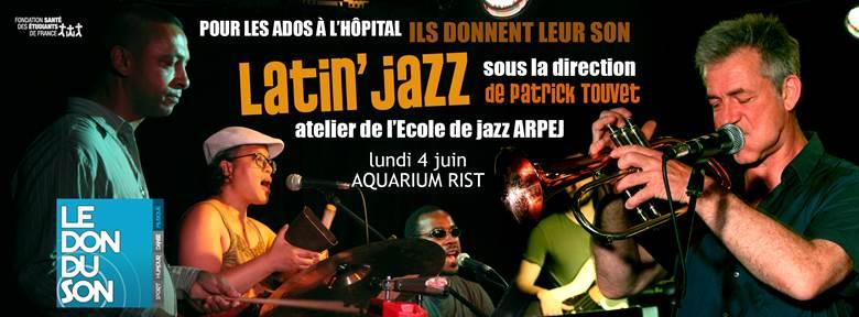 Lundi 4 juin, concert de Latin jazz d'un atelier dirigé par Patrick Touvet